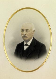 Portrait de Jules Bel fondateur des fromageries bel