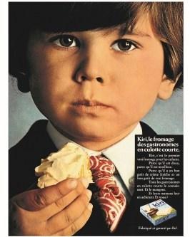 publicité pour Kiri, formages pour enfant par bel