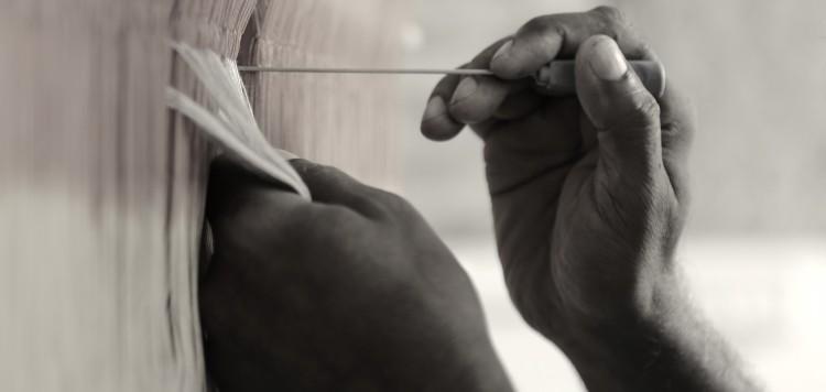 Gamchha tisserand de soie